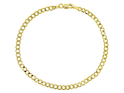 14k Yellow Gold Curb Bracelet 7.5 inch 3.0mm