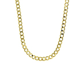 14k Yellow Gold Curb Chain Necklace 18 inch 4.0mm
