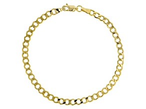 14k Yellow Gold Curb Bracelet 8 inch 4.0mm