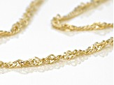 14k Yellow Gold Singapore Chain Necklace 18 inch