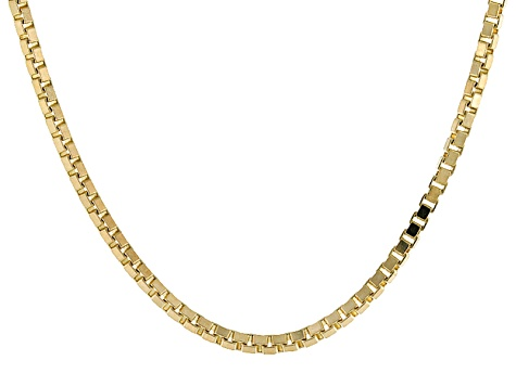 14k Yellow Gold Box Chain Necklace 20 inch 1.1mm