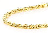 14k Yellow Gold Diamond Cut 2.1mm Rope 20 inch Chain Necklace
