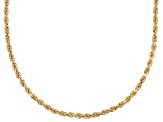 14k Yellow Gold Diamond Cut 20 inch Chain Necklace