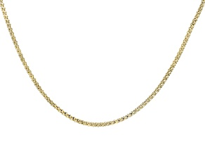 14k Yellow Gold Popcorn Chain Necklace 18 inch
