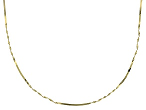 10k Yellow Gold Herringbone Chain Necklace 20 inch
