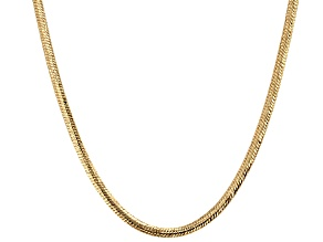 10k Yellow Gold Hollow Herringbone Necklace 18 inch 2.8mm