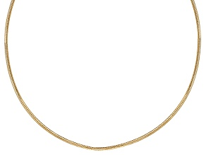 10k Yellow Gold Mesh Omega Necklace 18 inch 1.8mm