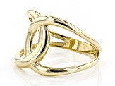 10k Yellow Gold Hollow interlocking Circle Ring