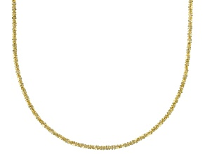 14k Yellow Gold Criss Cross 18 inch Chain Necklace