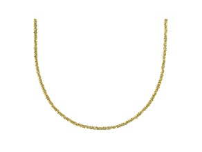 14k Yellow Gold Criss Cross 20 inch Chain Necklace