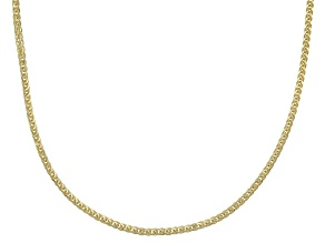 14k Yellow Gold Diamond Cut Wheat 18 inch Chain Necklace