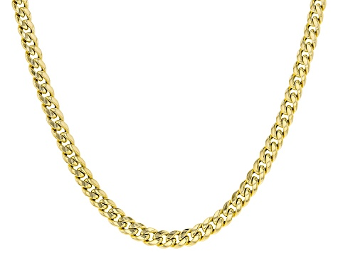 10k Yellow Gold Miami Curb 20 inch Necklace