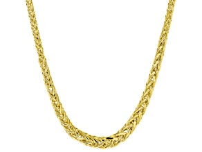 10k Yellow Gold Graduated Flat Wheat 18 inch Chain Necklace