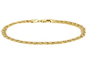 10k Yellow Gold Rosetta 7 1/2 inch Bracelet