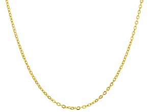 10k Yellow Gold Designer Rolo 20 inch Chain Necklace