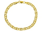 10k Yellow Gold Polished Curb 7 1/2 inch Bracelet
