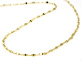 10k Yellow Gold Hollow Flat Cable 20 inch Chain Necklace