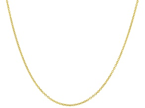 10k Yellow Gold Diamond Cut Cable 18 inch Chain Necklace