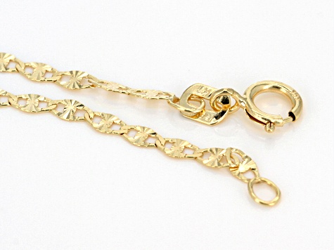 10k Yellow Gold Polished Mariner 18 inch Chain Necklace