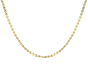 10k Yellow Gold Polished Mariner 20 inch Chain Necklace