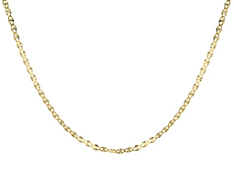 10k Yellow Gold Polished Mariner 24 inch Chain Necklace