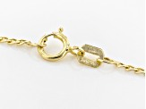10k Yellow Gold Polished Figaro 20 inch Chain Necklace