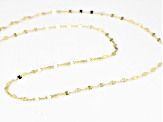 10k Yellow Gold Polished Flat Cable 18 inch Chain Necklace