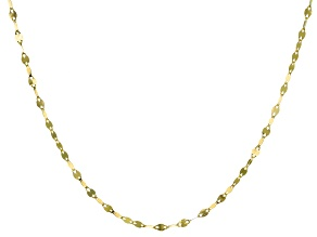 10k Yellow Gold Polished Flat Cable 20 inch Chain Necklace