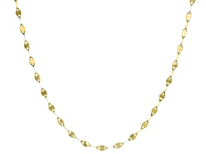 10k Yellow Gold Polished Flat Cable 24 inch Chain Necklace