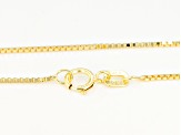 10k Yellow Gold Designer Box 18 inch Chain Necklace