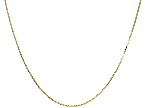 10k Yellow Gold Designer Box 20 inch Chain Necklace