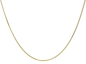 10k Yellow Gold Designer Box 24 inch Chain Necklace