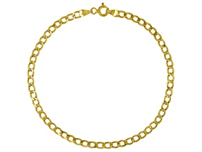10k Yellow Gold Flat Curb 7 1/2 inch Bracelet
