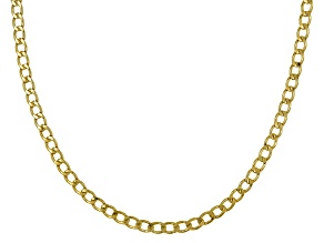 10k Yellow Gold Flat Curb 20 inch Chain Necklace