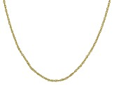 10k Yellow Gold Diamond Cut Rolo 1.2mm 18 inch Chain Necklace