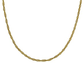 10k Yellow Gold Graduated Oval Rope 20 inch Chain Necklace