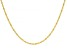 10K Yellow Gold 1.6MM Oval Rope 18 Inch Chain