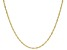 10K Yellow Gold 1.6MM Oval Rope 24 Inch Chain