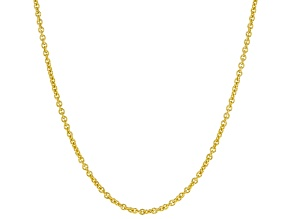 14k yellow gold rolo chain necklace 18 inch