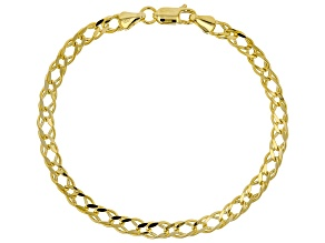 10k Yellow Gold Diamond Cut Marquise Bracelet