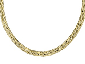 10k Yellow Gold Braided Mesh Necklace