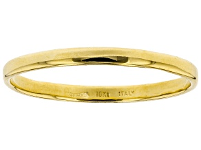 10k Yellow Gold High Polished Band Ring