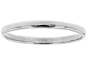 Rhodium over 10k White Gold High Polished Band Ring