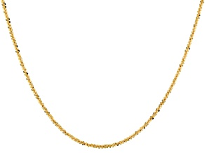 10k Yellow Gold Criss Cross 22 Inch Chain Necklace