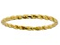 10k Yellow Gold Twisted Band Ring
