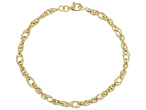10k Yellow Gold Polished Designer Rope Bracelet