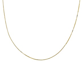 10k Yellow Gold Hollow 0.50mm Box 24 inch Chain Necklace