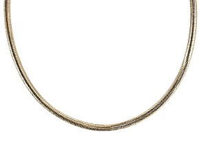10k Yellow Gold Mesh Omega 18 inch Necklace