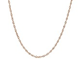 10k White Gold and Rose Gold Singapore 18 inch Chain Necklace