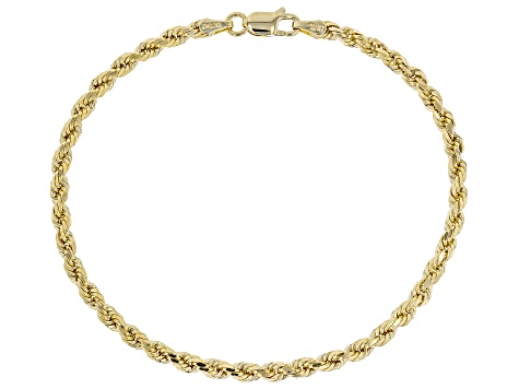 10k Yellow Gold 2.7mm Rope 7 1/2 inch Bracelet